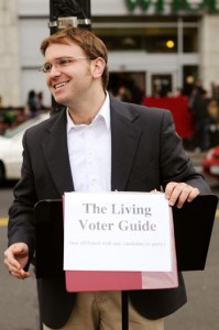 Robert A. K. Gonyo as The Living Voter Guide