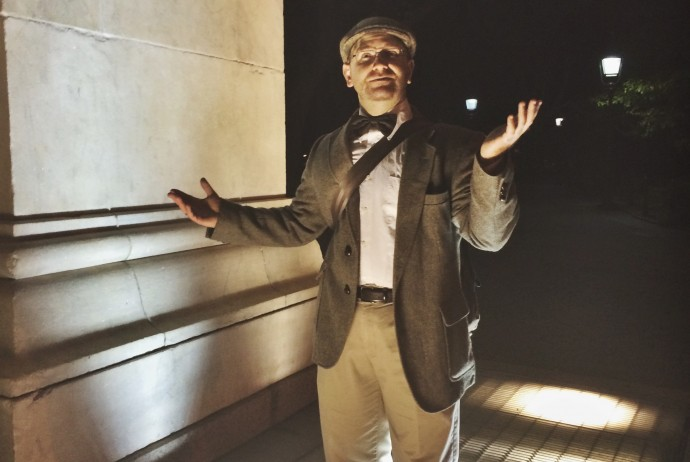Robert A. K. Gonyo as Professor Mortimer, Haunted Manhattan ghost tours in Greenwich Village