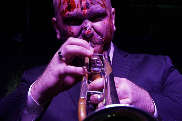 EndTimes Productions presents Ded Sullivan at Times Scare, Robert A. K. Gonyo on trumpet