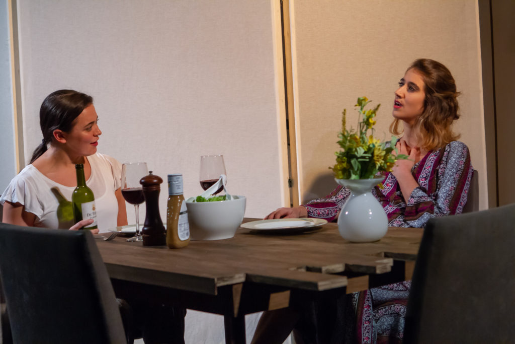 DINNER WITH FRIENDS, written by Donald Margulies, directed by Robert A. K. Gonyo at the Stella Adler Studio of Acting, 2018, photo by Kenneth Shook Photography, courtesy of the Stella Adler Studio of Acting